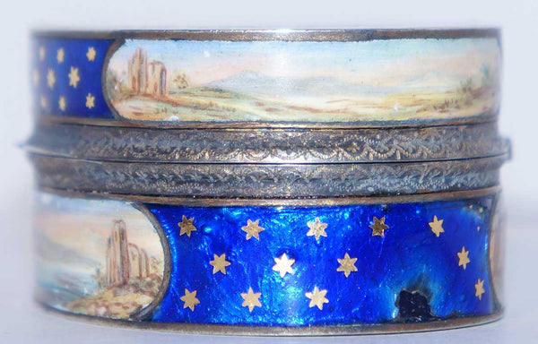 French Louis XVI Gilt Silver and Enamel Snuff Box