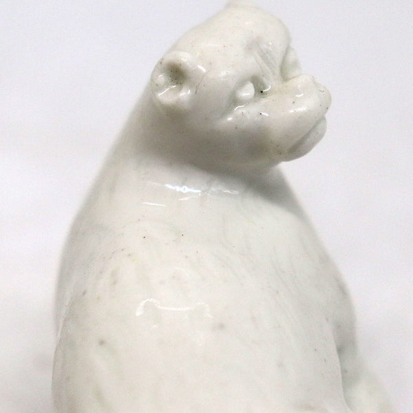 Rare French Mennecy Soft Paste Porcelain Pug Dog Bonbonniere