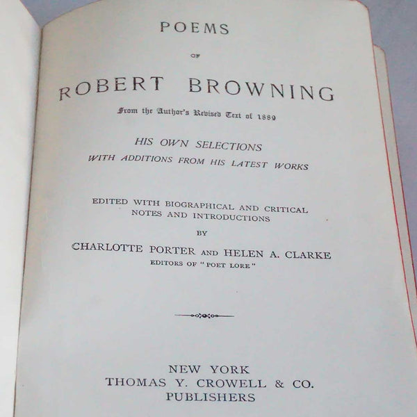 Leather Bound Book: Selected Poems by Robert Browning