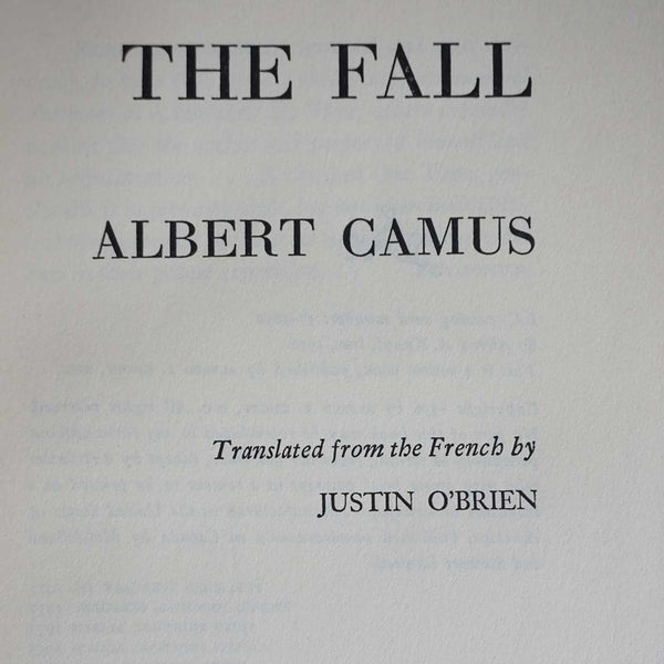 Vintage Book: The Fall by Albert Camus
