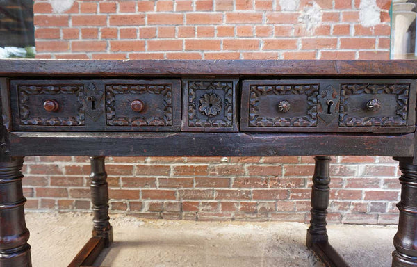 Spanish Baroque Chestnut Console Table