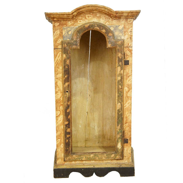 Portuguese Painted Pine Reliquary Altar Cabinet