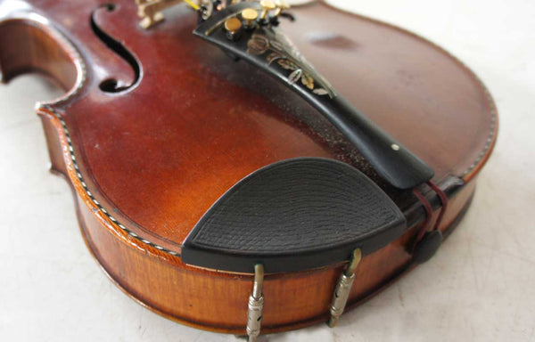 French or German Maple and Spruce Mother-of-Pearl Inlaid Violin