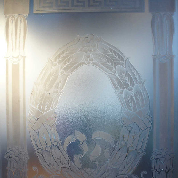 English Neo-classical Etched Glass Window