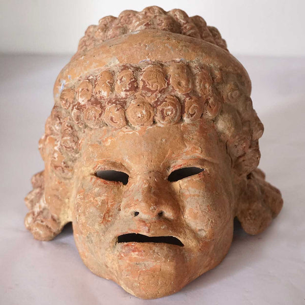 Small Ancient Pottery Mask with Case
