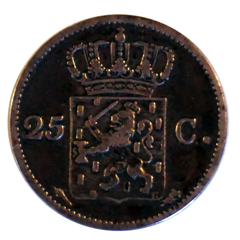 Dutch Willem I 25 Cent Silver Coin, 1826