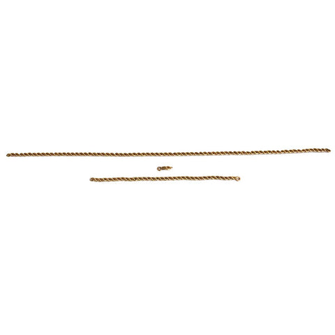Three Sections of Vintage 12k Gold Rope Chain Necklace