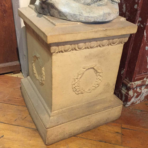 Small English Neoclassical Terracotta Square Pedestal