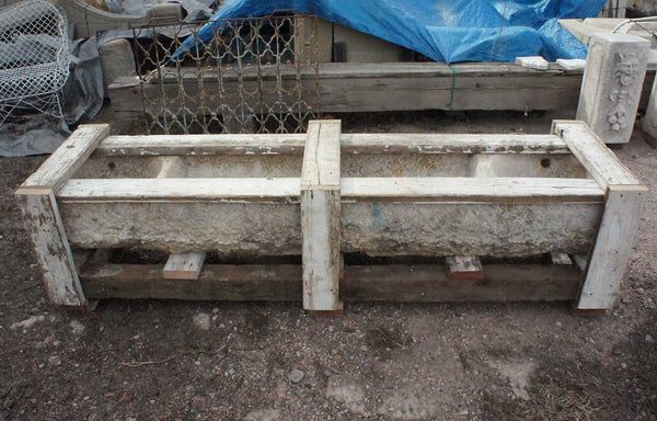 Large French Macon Limestone Horse Trough