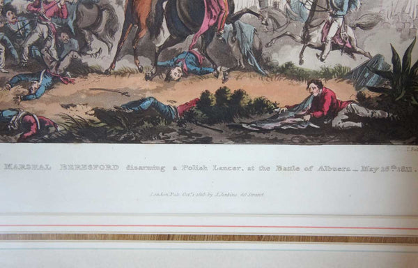 WILLIAM HEATH Aquatint Napoleonic Military Battle Scene