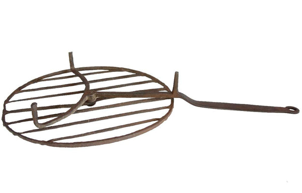 Early American Wrought Iron Revolving Fireplace Grill