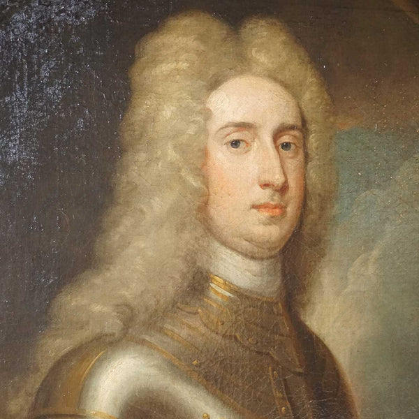 Follower of G. Kneller, Oil on Canvas Portrait Painting of Count Cornelis of Nassau