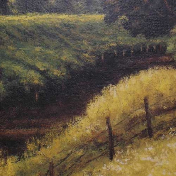Signed Oil on Canvas Painting, California Vineyard Scene