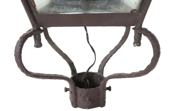 Victorian Copper Three-Light Street Post Lantern
