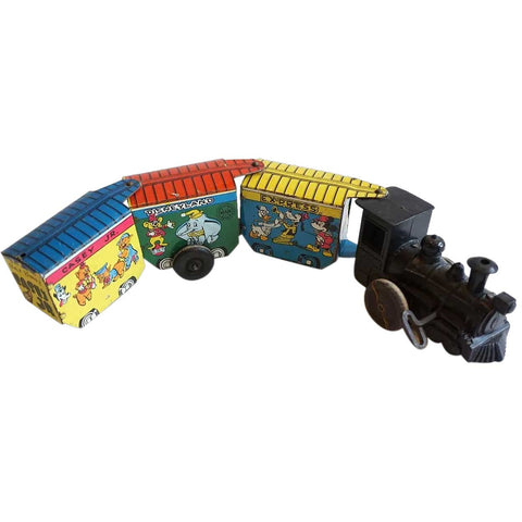 Vintage American Marx Tin Lithograph Casey Jr. Disneyland Express Wind-Up Toy Train
