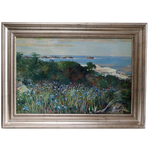After Guy Rose Impressionist Style Oil on Canvas Painting, California Coast