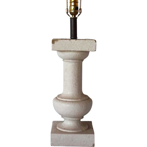 American Belmar Mansion Glazed Terracotta Architectural Baluster as a Table Lamp