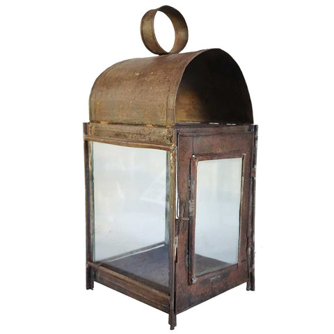 Anglo Indian Toleware Dome Top Wall Lantern