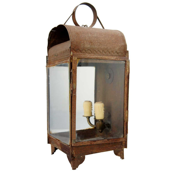 Anglo Indian Toleware Two-Light Wall Lantern Sconce