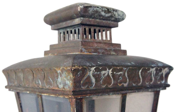 English Victorian Brass Exterior Bracket Lantern