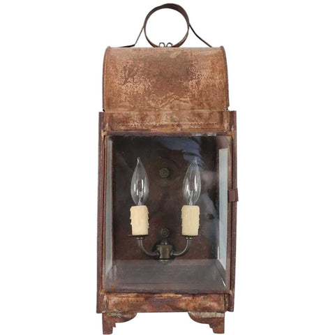 Anglo Indian Toleware Two-Light Wall Lantern