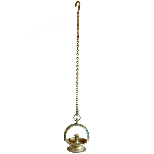 Indian Bronze Hanging Oil Lamp (Thookkuvilakku)