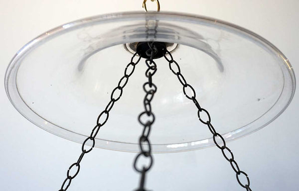 Large English Regency Style Glass Hall Lantern