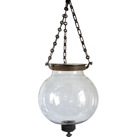 Small English Glass Globe Hall Lantern