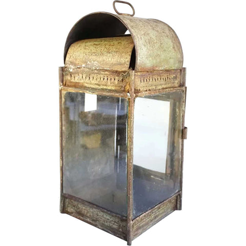 Anglo Indian Painted Iron Wall Lantern