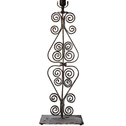 Victorian Forged Iron Architectural Baluster as a Table Lamp
