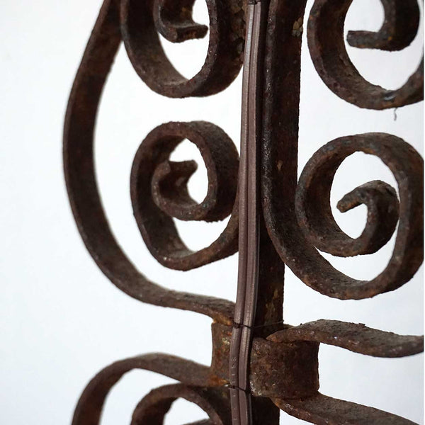 Victorian Forged Iron Baluster as a Table Lamp