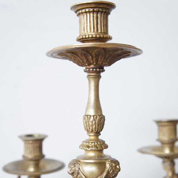 Russian Neoclassical Bronze Seven-Light Candelabrum