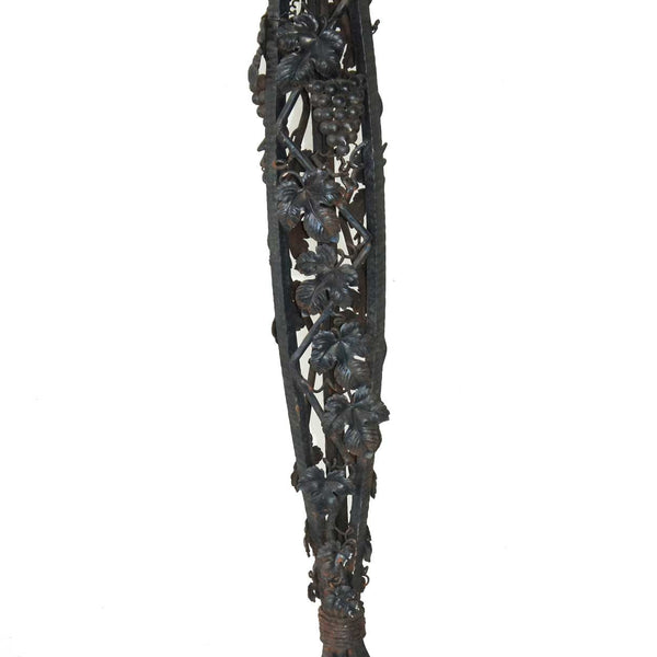 French Art Deco Fer Forge Iron Tall Floor Lamp Base