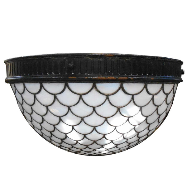 American Leaded Half Dome Hanging Pendant Light Fixture