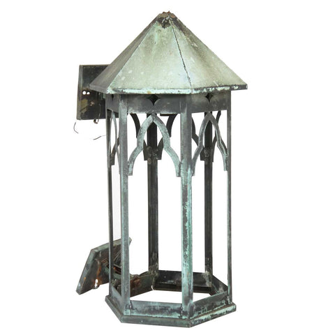 American Gothic Revival Copper Exterior Bracket Sconce