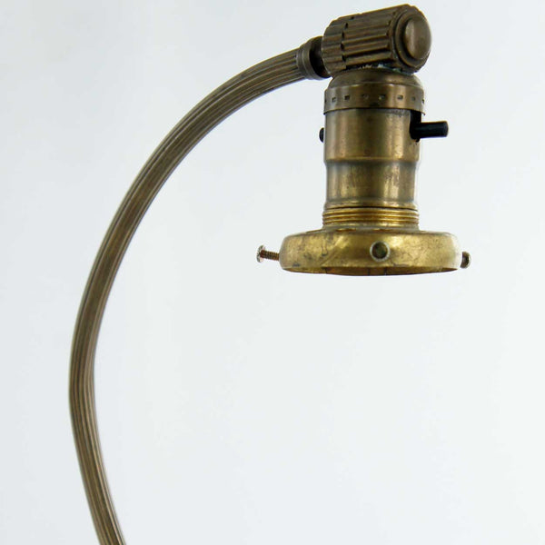 American Chase Art Deco Brass Table Lamp