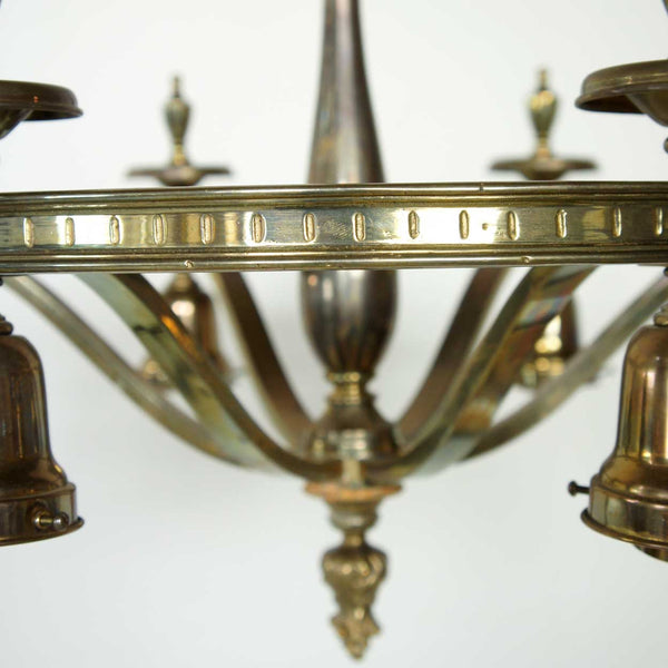 American Brass Six-Light Chandelier