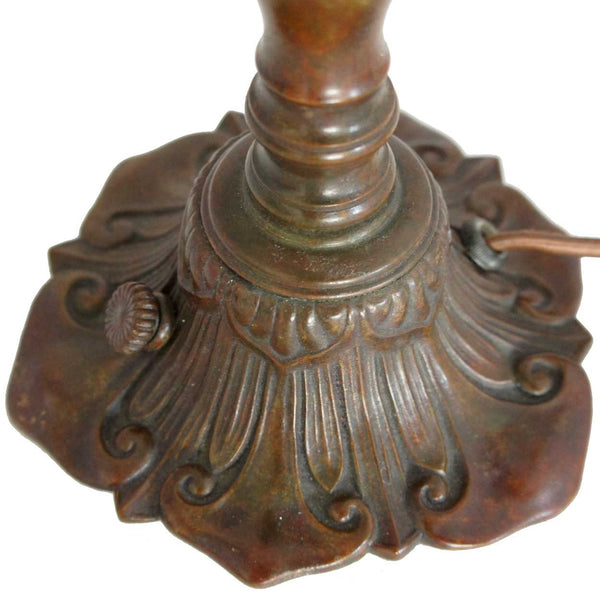 American Tiffany Furnaces Art Nouveau Bronze One-Light Lily Table Lamp