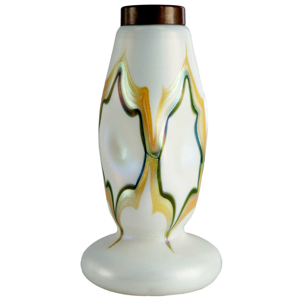 This american art nouveau table lamp is no longer available - American Art Nouveau Glass Table Lamp Base