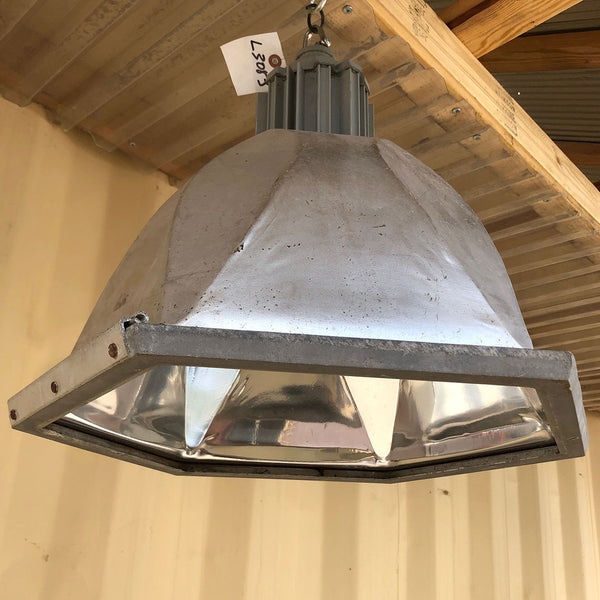 Vintage American Industrial Aluminum Six-Sided Hanging Pendant Light