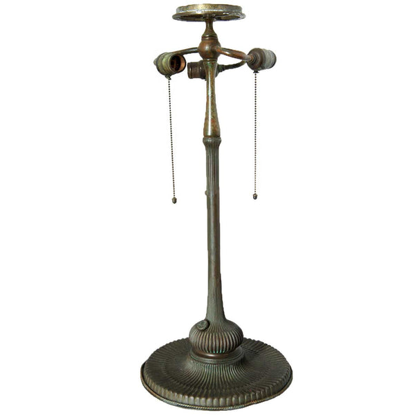 American Tiffany Studios Bronze Mandarin Lotus Three-Light Table Lamp Base