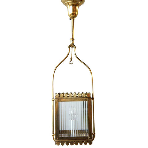 American Victorian Brass Hallway One-Light Hanging Light