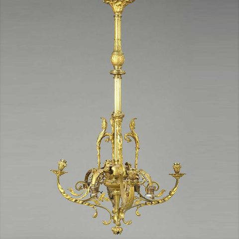 Antique chandeliers french louis xvi revival gilt bronze eight light chandelier aloadofball Images