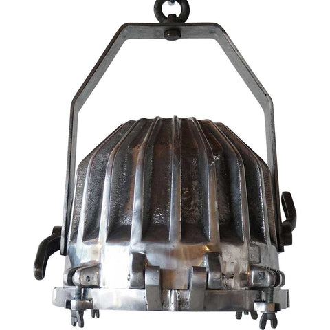 Vintage Style Industrial Ribbed Aluminum Shade Pendant Light
