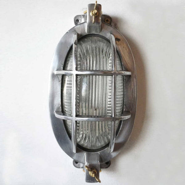 Vintage Style Industrial Aluminum Oval Ceiling or Wall Mount Light