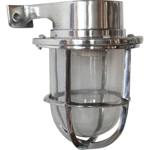 Vintage Style Industrial Aluminum Wall Mount Caged Sconce Light