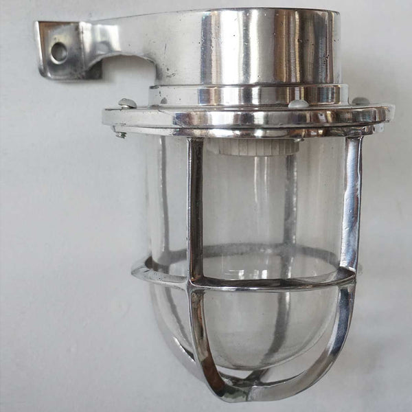 Vintage Style Industrial Aluminum Wall Mount Caged Sconce Light (15 available)
