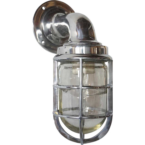 Vintage Style Industrial Aluminum Caged Bracket Ship's Passage Sconce Light (31 available)