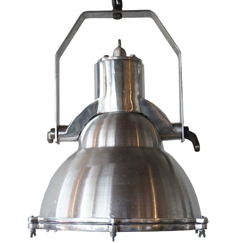 Vintage Style Industrial Aluminum Domed Ship Cargo Hanging Pendant Light