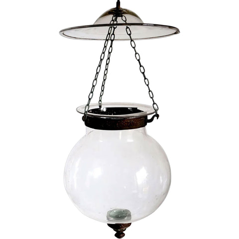 Small Belgian Export Glass Globe Hall Lantern